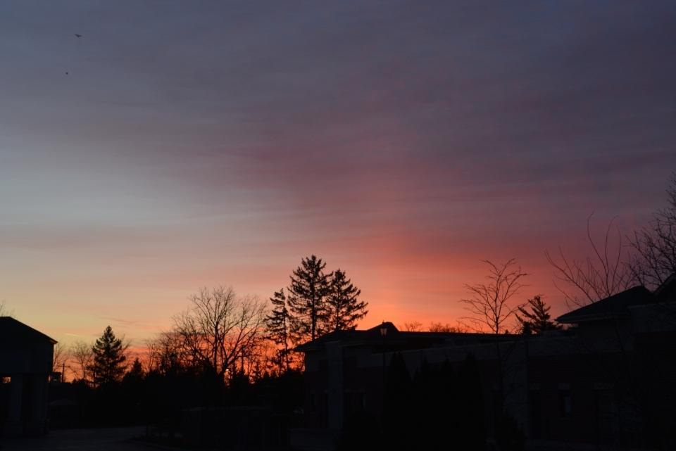 傍晚天空户外唯美自然风光