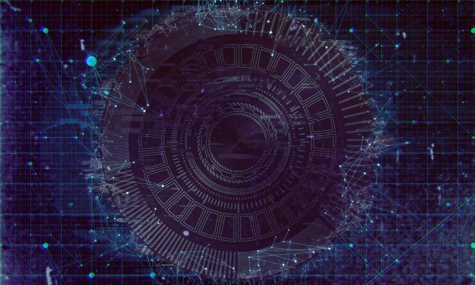 星空科幻黑科技星群黑蓝色神秘