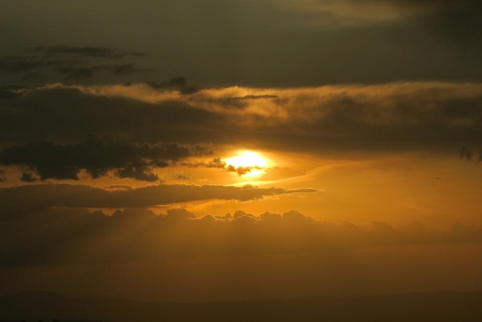 日出日落夕阳天空云朵阳光