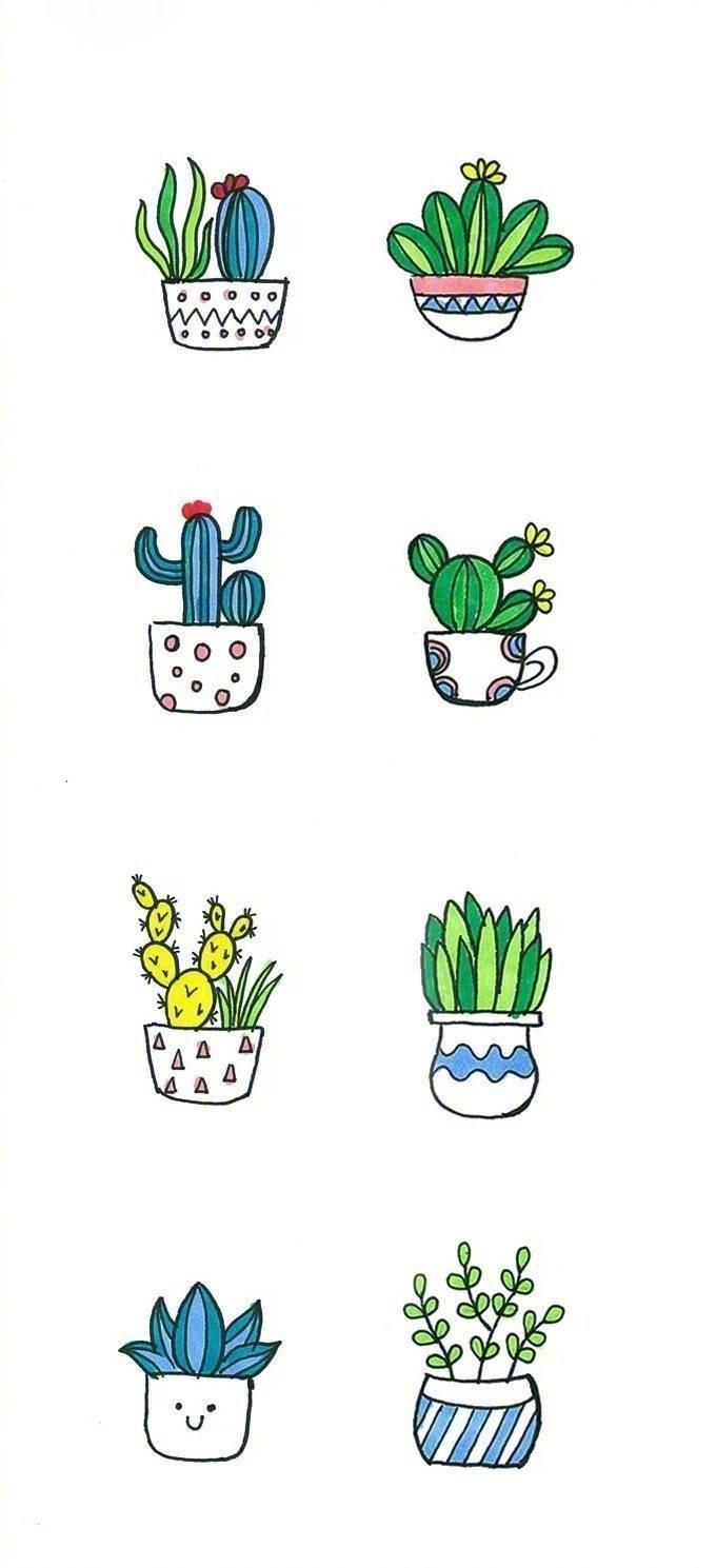 小盆栽简笔画图片
