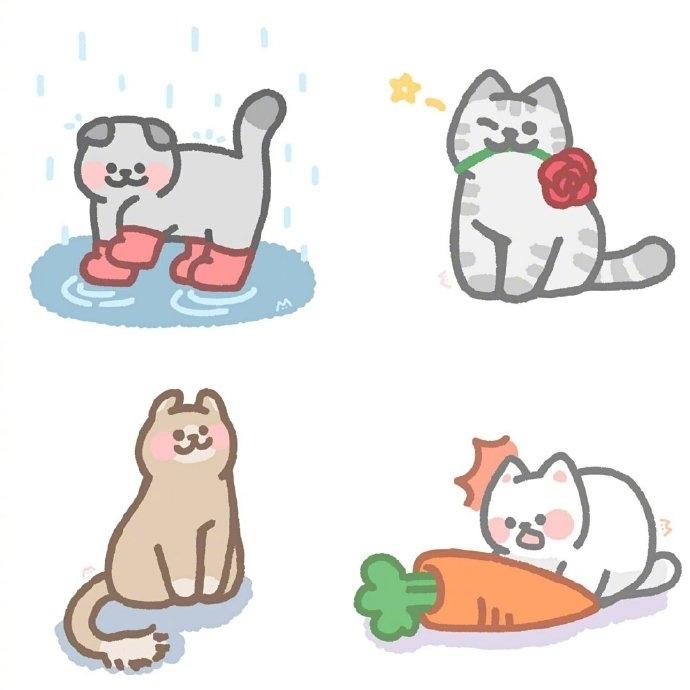 可爱的猫猫简笔画图片