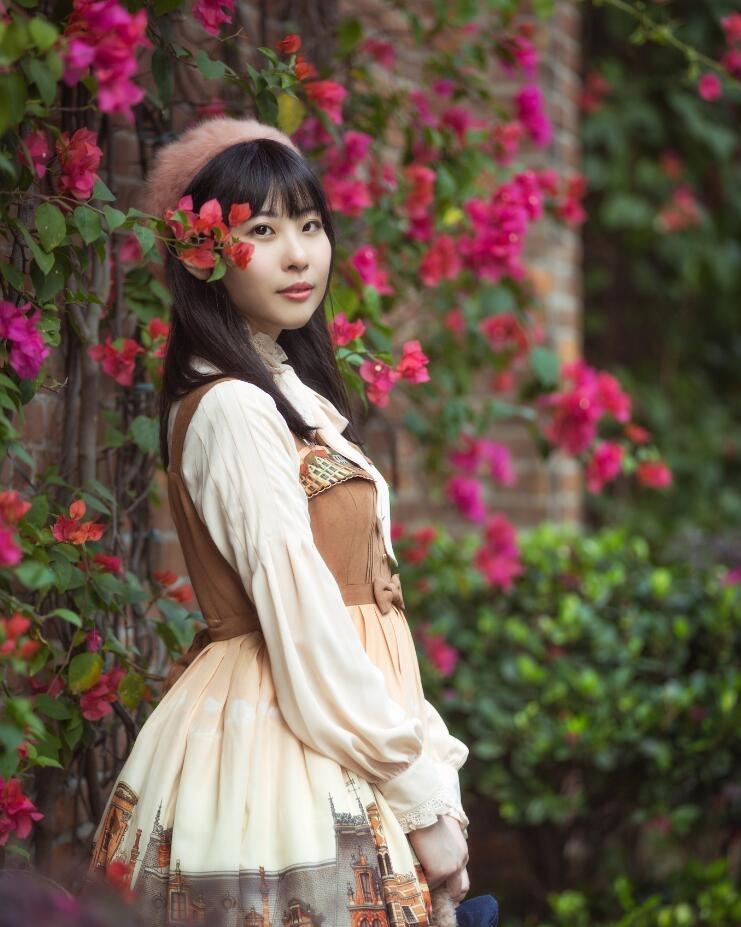 人物摄影_户外甜美可爱lolita美女高清写真