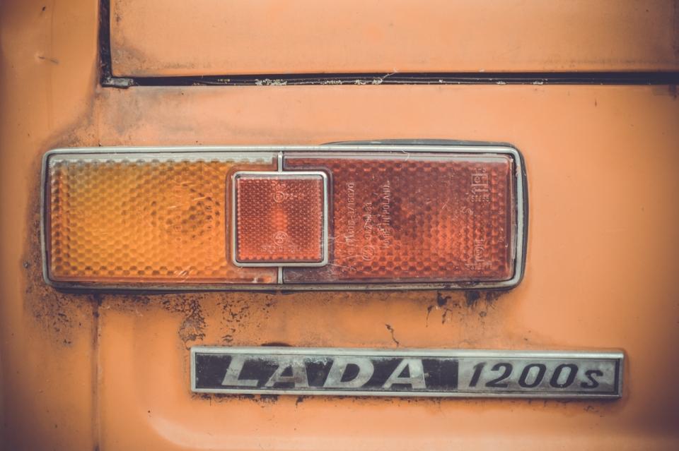 陈旧车灯怀旧复古纪念橘黄进口越野