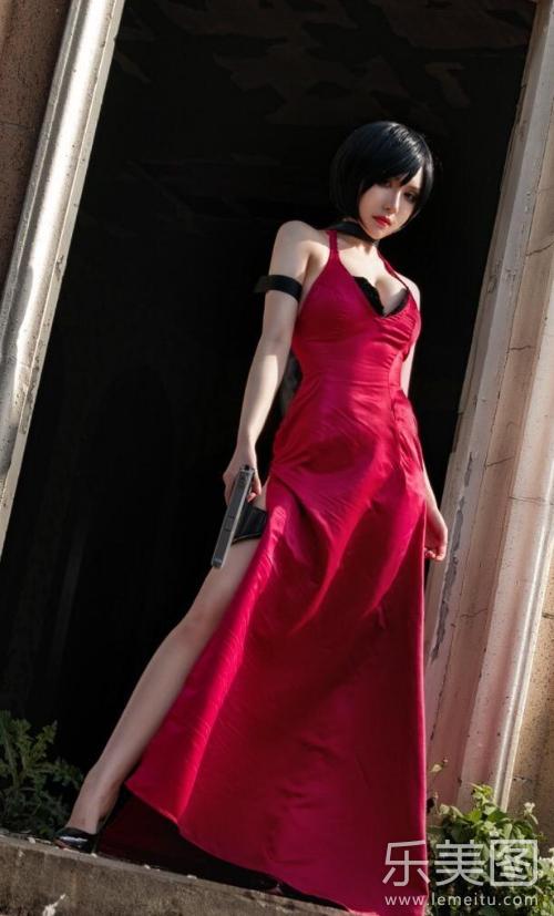 生化危机艾达王cos长裙美腿高清写真